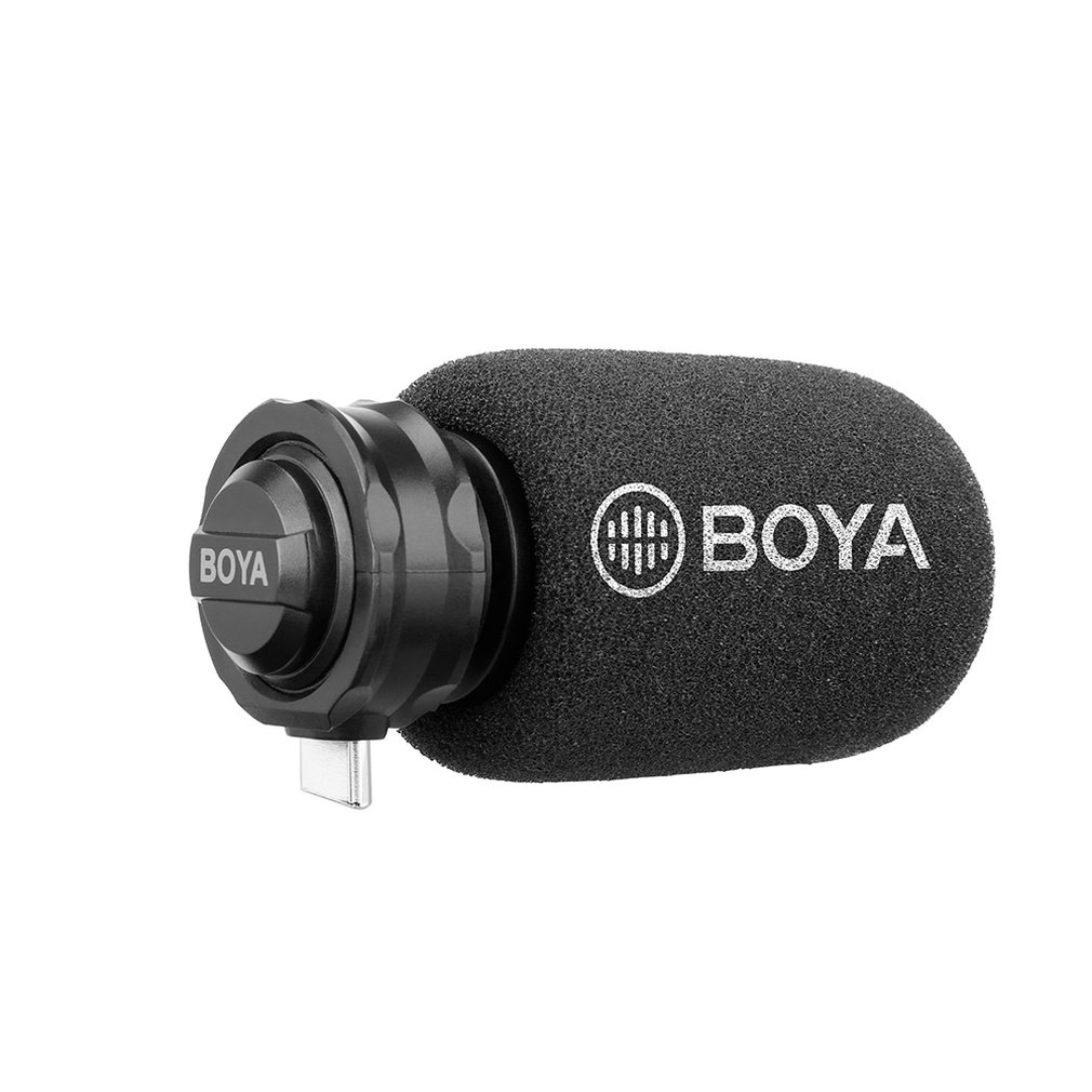 Boya By-Dm100 Microphone For Android Digital Condenser Stereo Microphone Superb Sound For Android Usb Type-C Devices RecordingBoya By-Dm100 Microphone For Android Digital Condenser Stereo Microphone Superb Sound For Android Usb Type-C Devices Recording