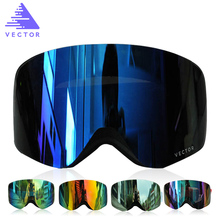 цена на Men Women Ski Goggles Double Lens UV400 Anti-fog Winter Snow Sports Snowboard Big Spherical Glasses Skiing Adult Snow Eyewear
