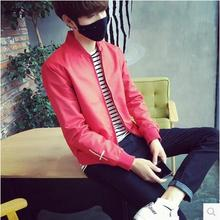 Free shipping The spring and autumn period and the trend of men's baseball uniform jacket cultivate one's morality leisure coat