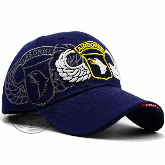 Online Shop LIBERWOOD U.S. Army 101st Airborne Division hat cap Screaming  Eagles Air Force caps Tactical Operator hats Men Embroidery black  d59f467f0dad