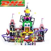 Лепин 07090 Legoing Джокер усадьба Batman Movie 70922 3857 шт. модель строительные блоки кирпичи образование игрушки для Для детей Подарки