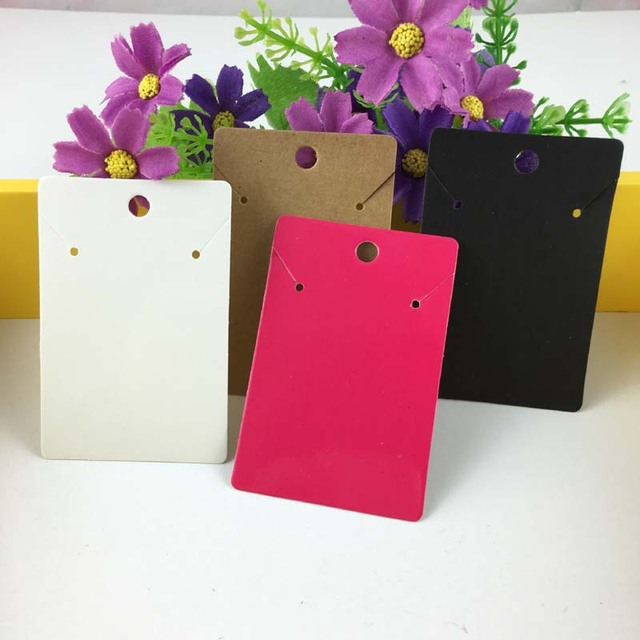 200PCS/Lot Necklace&Earring Cards Blank Jewelry Cards Paper Jewelry Display Card