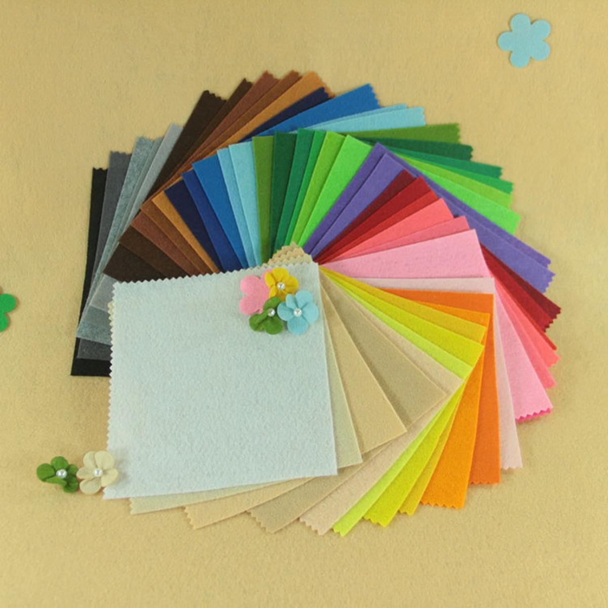 2019 Colorful Crafts Felt Fabric 1mm Thickness Felt Sheets Rainbow