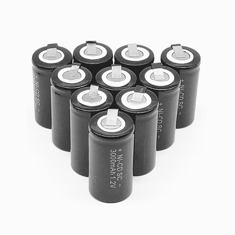 10/12/15/22 PCS High Quality Battery, Rechargeable Battery, SC 1.2 V Battery With 3000 Mah Tab For Electric Tools
