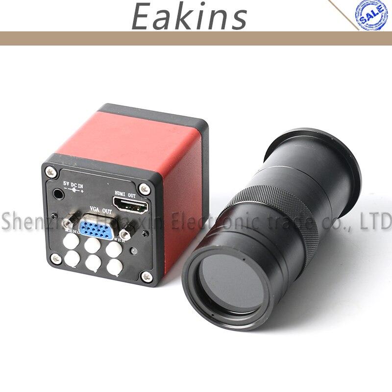 13MP mikroskop HDMI VGA ausgang kamera 60F/S + 130X C-mount Objektiv video mikroskop kamera Trinocular mikroskop kamera für reparatur