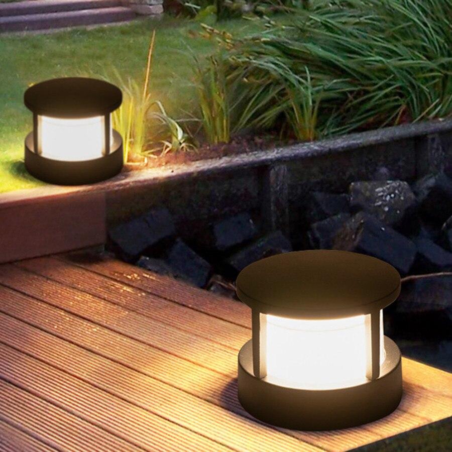 Thrisdar 12 w luz coluna do jardim