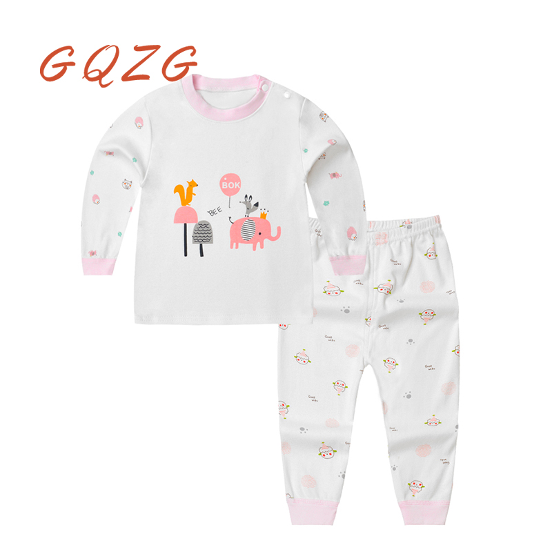 GQZG suits baby girl boy clothing cute animal pattern