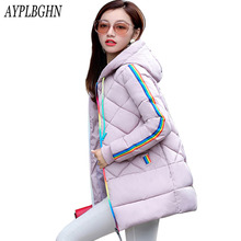 Warm Winter Jackets Women new Fashion Down Cotton Parkas Casual Hooded Long Coat Thickening Zipper Cotton Slim Plus Size Parka