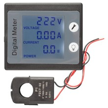 Single Phase Digital Electric Saver Power Meter Wattmeter 220V 100A Khw Energy Meter Pzem-011 With Ct Split(China)
