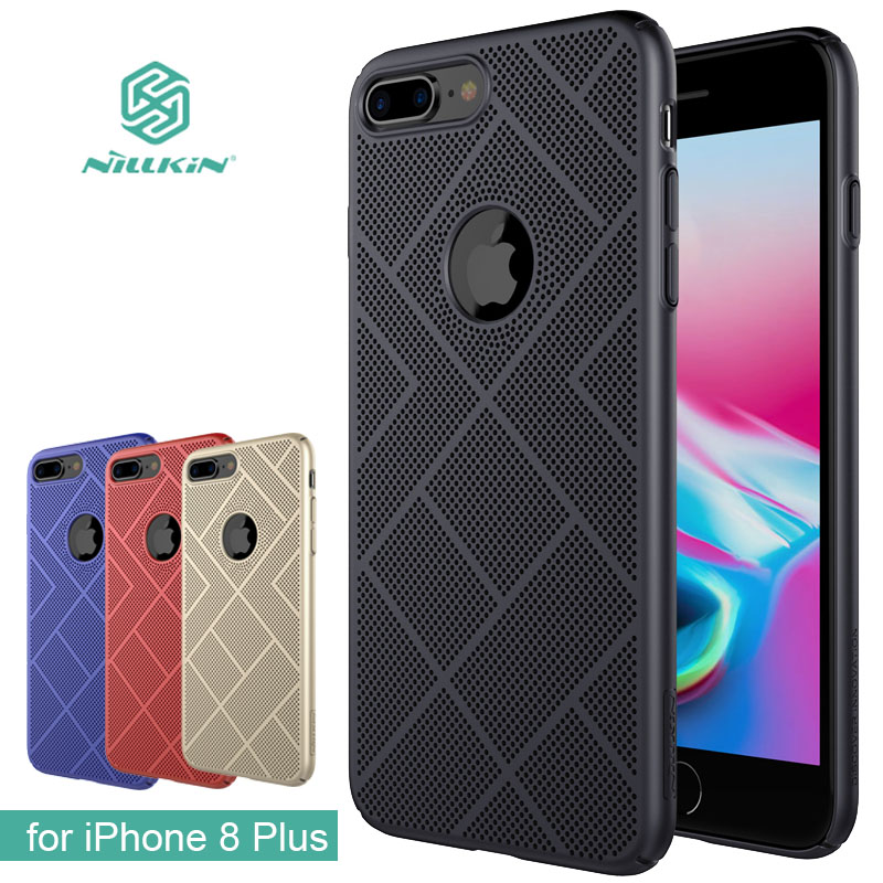 for iPhone 8 Plus Nillkin Heat Dissipation Hard Back PC Frosted Protective Cover Air Case Nilkin for iPhone 8 Plus Phone Case