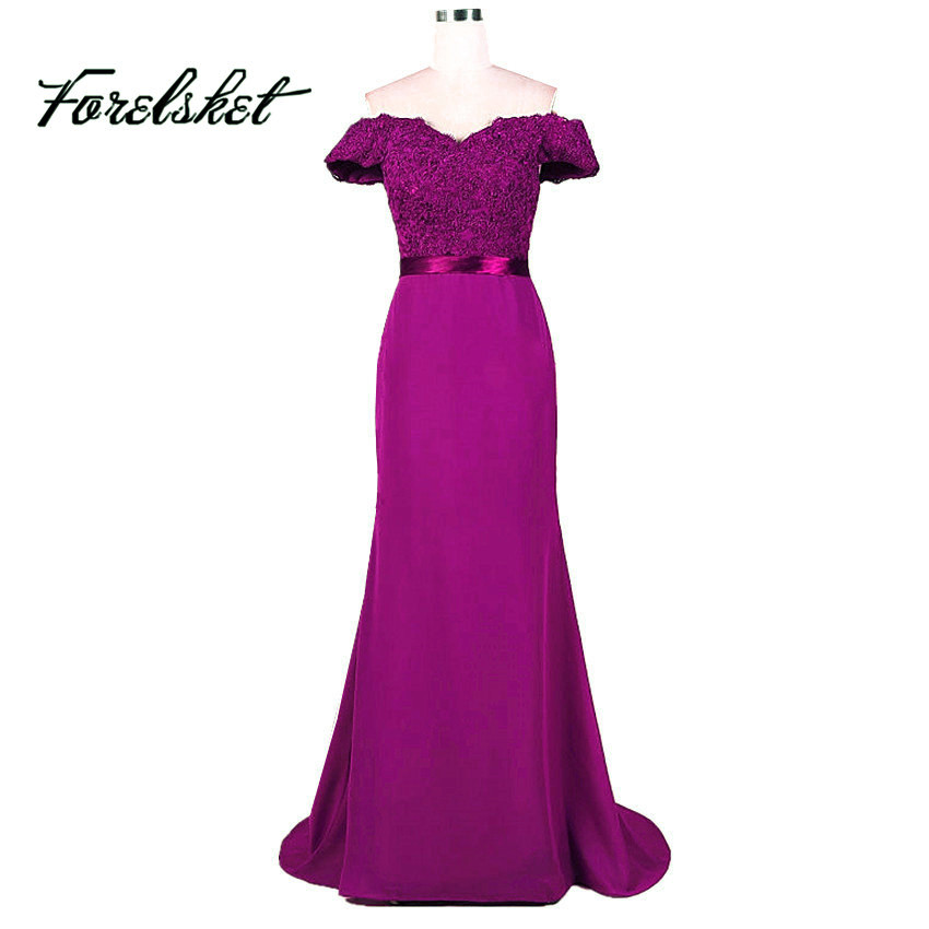 Oscuro púrpura verde menta sirena Vestidos de dama de honor 2017 ...