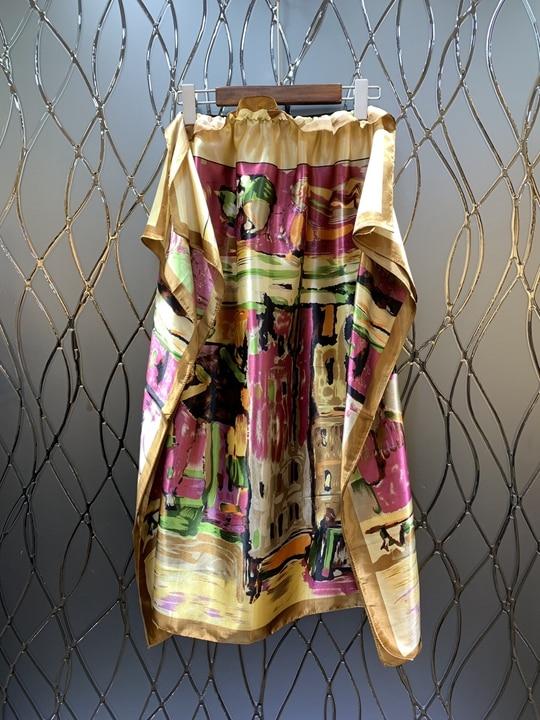 Broderie Jaune Couleur Et Long De Jupe Printemps Demi D'été 2019 0313 Nouvelle Moyen Femme Modèles longueur BHXBwZRqW