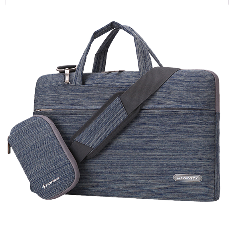 11 inch Laptop Bag Notebook Shoulder Messenger Bag Men Women Handbag Sleeve (Suit Blue)