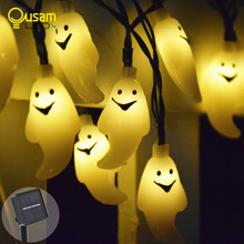 цена на 20/30 Led Ghost Solar String Lights Outdoor Fairy Light With Solar Panel Waterproof For Garden Patio Yard Christmas Parties