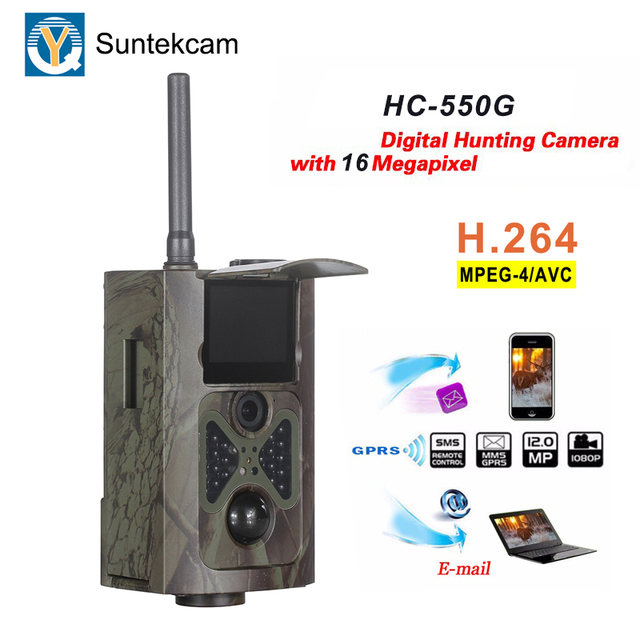 Suntekcam HC-550G 3G SMS MMS Hunting Camera 16MP Game Camera IP65 Waterproof Wildlife Trail Camera 0.3s Trigger Photo Trap 2