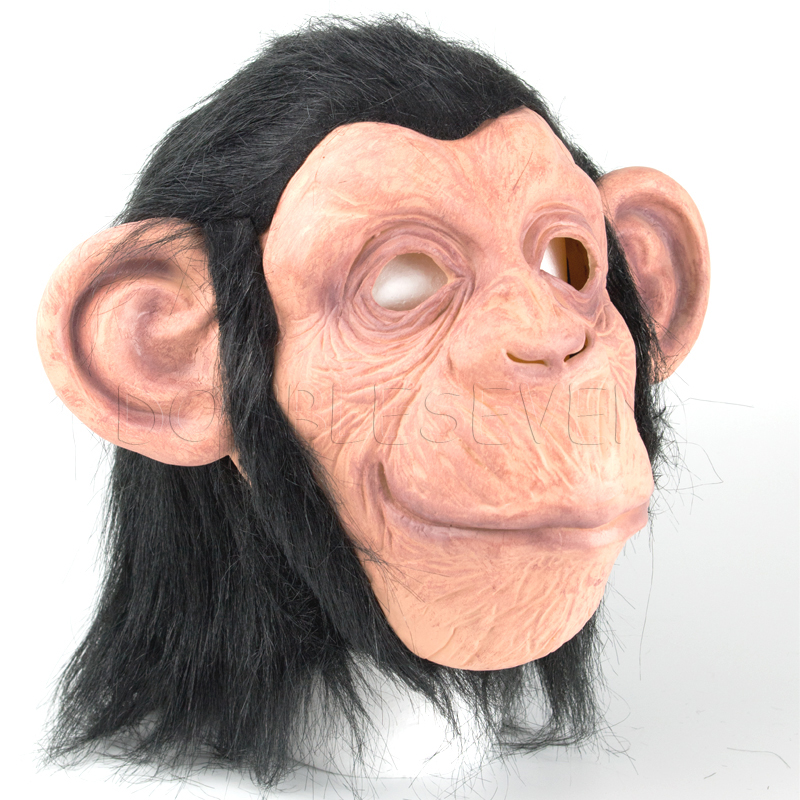 Big eared rubber latex monkey mask holiday party maske
