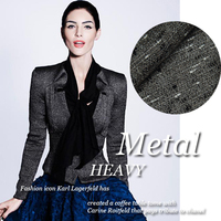 Sense, black and gray wool woven fabrics clothing fabrics
