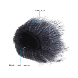 Image 5 - 12cm*12cm (L*D) EY M23 Furry Outdoor Microphone Windscreen Artificial Fur Muff Wind Cover for Zoom H1 H2N H4N Pro H6 for Sony