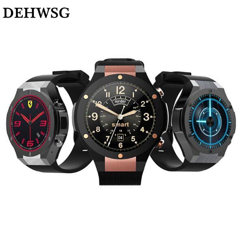 DEHWSG H2 MTK6580 OS Android 5.1 ROM 16G RAM 1G Bluetooth Smart Watch support Wifi GPS 5M Camera Heart Rate for IOS Android KW88