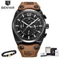 BENYAR мужские часы лучший бренд класса люкс кварцевые часы с хронографом модные повседневные деловые часы мужские наручные часы Relogio Новинка