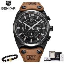 BENYAR hommes montres haut de gamme de luxe Quartz chronographe montre de mode décontracté affaires montre hommes montres montre Relogio nouveau