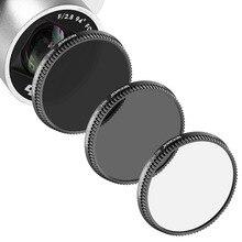 Neewer 3 pcs multi-revestido filtro kit para dji osmo/inspire 1 fio ultra-alta definição de vidro de alumínio: uv + nd4 + nd8 filtro