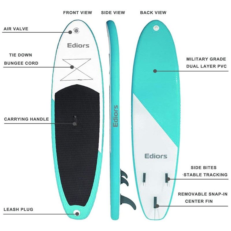 Inflatable Stand Up Paddle Surfboard Surfing Board Water Sport Sup Board 305X76X15 CM Kayaking With Paddle Pump Foot Safety Rope image