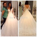 Vestido De Noiva Cheap Vestido De Festa Longo Sexy Sheer Full Sleeve Zipper Back Tulle Wedding Dress 2016 Bridal Gown Plus Size