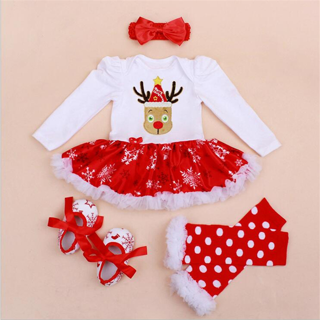 79e3e4cd458 Girls Clothing Sets Christmas Reindeer Costume Kids Infant Christmas Outfits  Jumpsuit Rompers Newborn Baby Girl Clothes