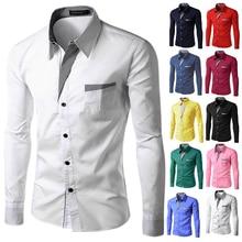 TUNEVUSE Mens shirts Camisa Masculina Long Sleeve Shirt Men Korean Slim Design Formal Casual Male Dress Shirt Size M-4XL 8012