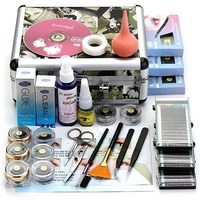 1Set False Eyelashes Extension Glue Brush Kit Set Individual Eyelashes Salon Case Makeup Tools