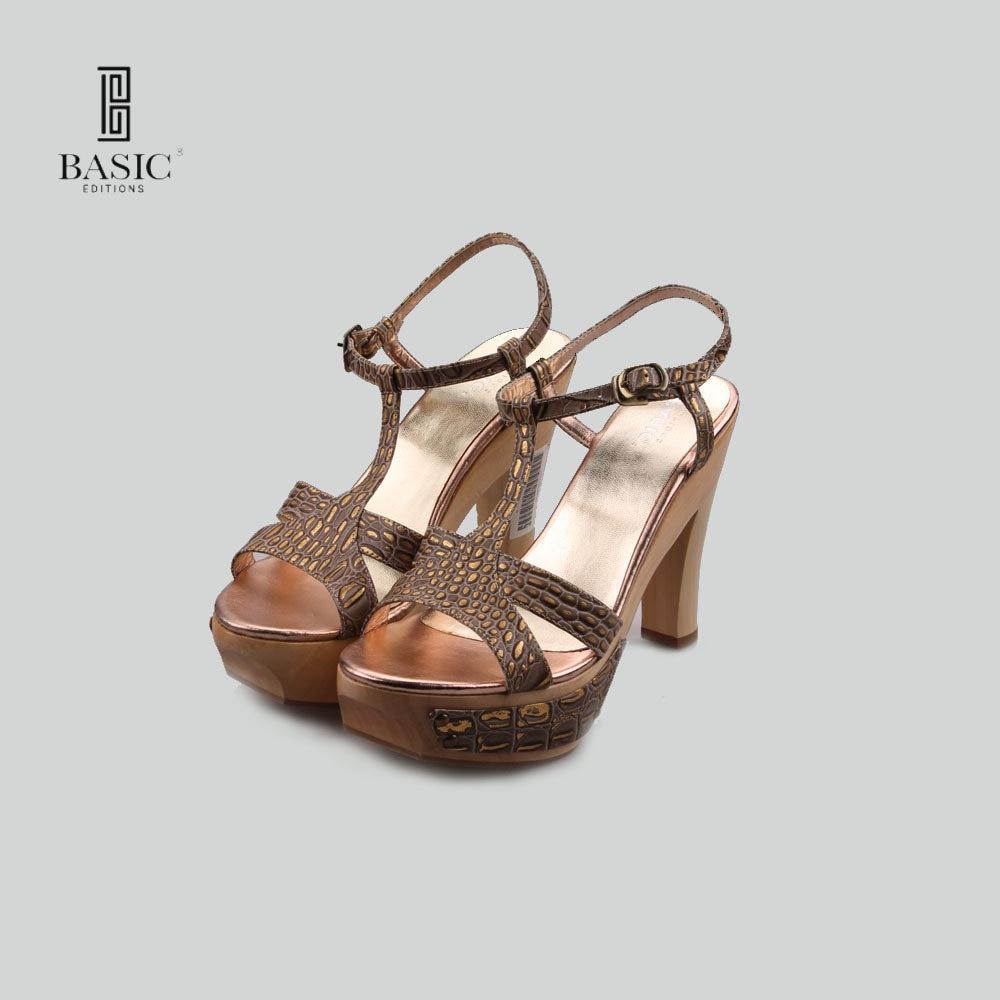 Basic Editions Women Pumps Spring Summer Women High Heel Wooden