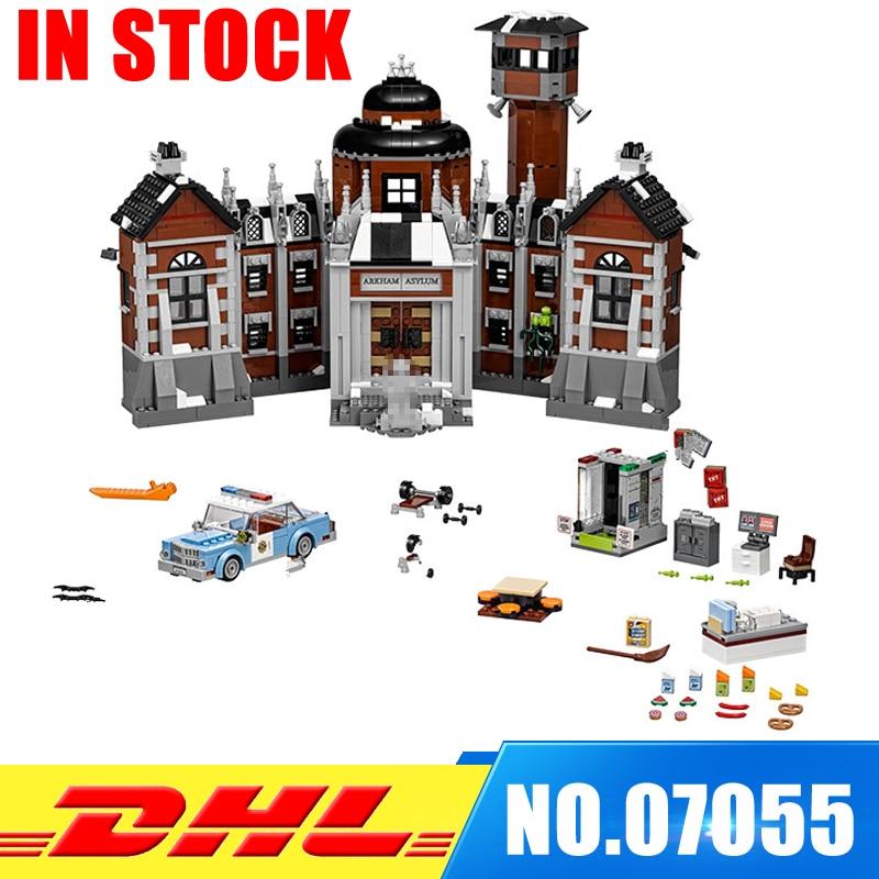 In Stock Lepin 07055 Genuine Batman Movie Series THe Arkham`s Lunatic Asylum Set Building Blocks Bricks Toys Model 70912 batman volume 2 joker s asylum