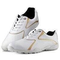 נשים נעלי גולף עור מיקרופייבר עמיד למים לנשימה נעלי ספורט נעלי גולף נייל אנטי להחליק עמיד אחיזה טובה