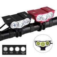 8000 ルーメン自転車ライト T6 LED サイクリングライトフロント自転車ランプ 4 モードトーチ + バッテリーパック + 充電器