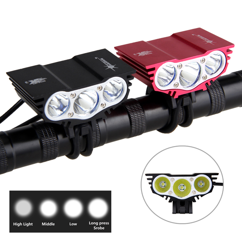8000 Lumens de Luz Bicicleta T6 LEVOU de Bicicleta Luz Dianteira Da Bicicleta Da Lâmpada 4 Modo Torch + Bateria + Carregador