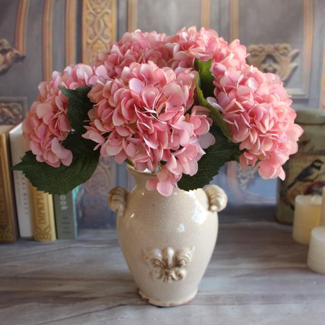 1pc Artificial Hydrangea Silk Flower Arrangement Room Hydrangea ...