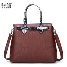 BRIGGS Alligator Womens Bags Famous Brand PU Leather Female Vintage Shoulder Bag Designer Handbags High Quality Women Handbag