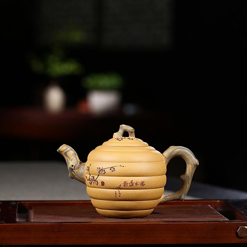 240ml Famous Artists Manual Teapot Yixing Ore Purple Clay Segment Mud Ceramic Tea Pot Unique Exterior Black Tea Kettle Art Gifts Gift Gift Giftsgift Pot Aliexpress