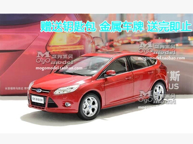 FORD FOCUS 2012 new Hatchback 1:18 car model alloy original metal diecast kids toy boy collection Simulation Miniature 2015 new ford taurus 1 18 original alloy car models changan ford kids toy beautiful box gift boy limit collection silver