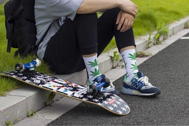 Ciepłe długie skarpetki Weed