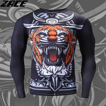 Funny T Shirts Men Fashion Brand Clothing 3d Tiger Printer Hip Hope Metallica Men T shirt Personal Rashguard Long Sleeve Tops