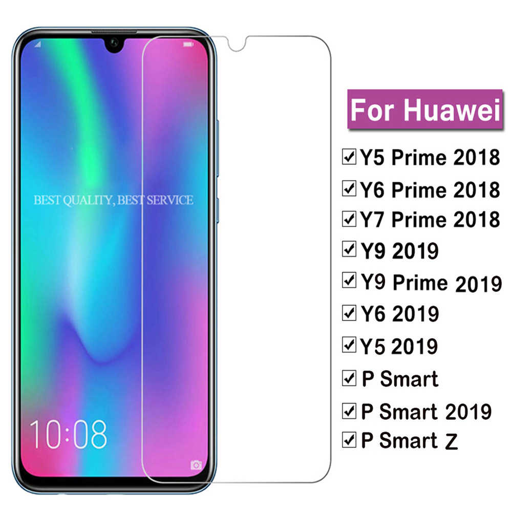 2Pcs Tempered Glass For Huawei Y9 Y5 Y6 2019 Y7 Prime 2018 Screen Protector glass on For Huawei Y9 Y6 P Smart Z 2019 Glass