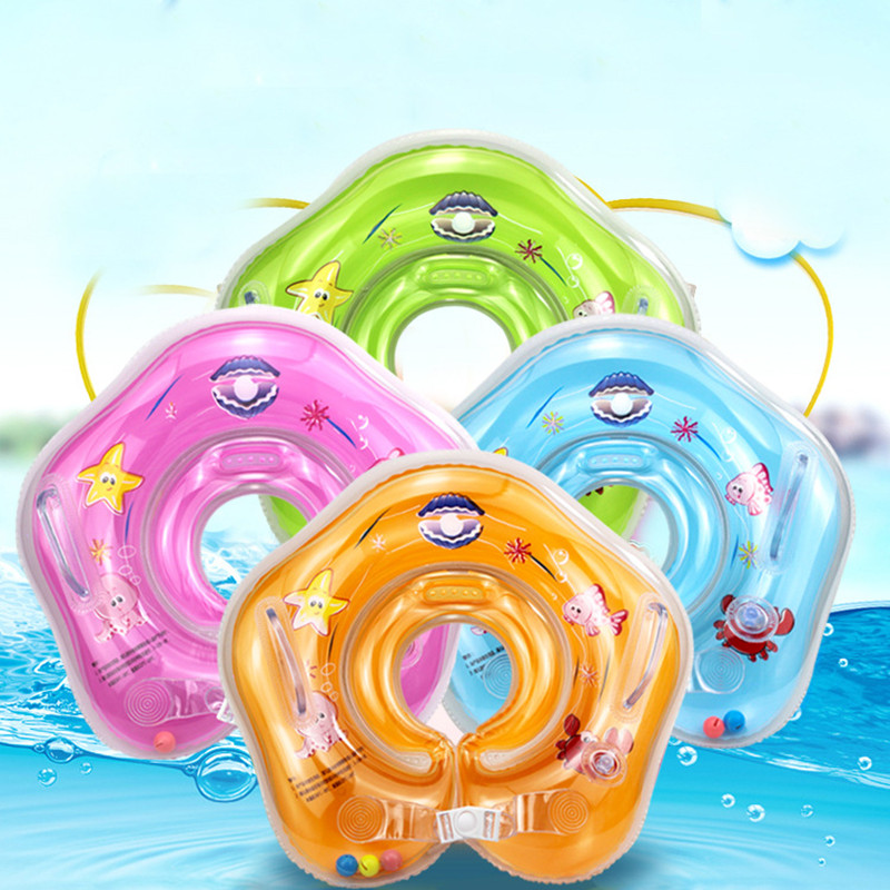 SMALL ROAMING Swimming Baby Pools Baby Inflatable Circle Baby Neck Baby Float Inflatable For Bathing Circle Safety Neck Float