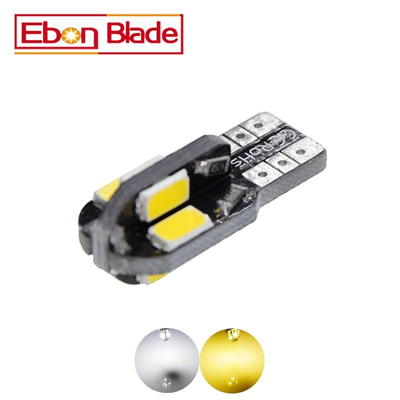 2Pcs T10 8 SMD 5630 LED Car Light Canbus NO OBC ERROR Auto Wedge Lamp 2825 W5W 5730 Led Parking Bulb 12V Warm/White Car-styling