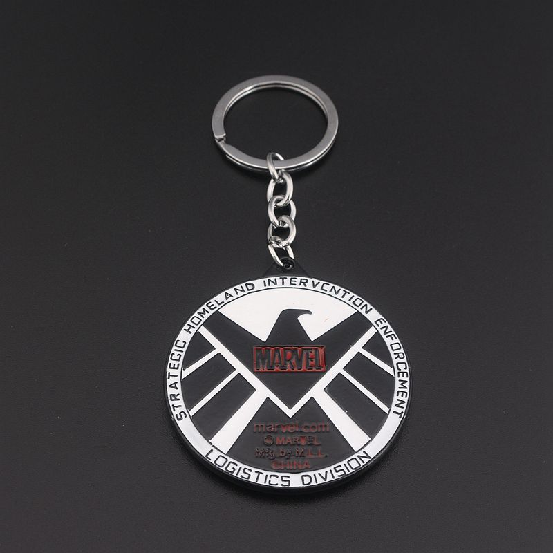 S/C New S.H.I.E.L.D. Shield Badge letter Keychain logistics division logo Keyring Pendant For women and men jewelry Accessories