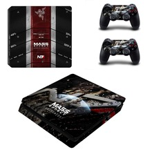 MASS EFFECT Vinyl Decal for PS4 Slim Console Cover for Playstaion 4 Controller PS4 Slim Skin Sticker