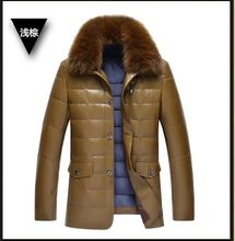 Burst mannequin Males's Winter Thinsulates Silver fox Jackets And Coats Thick Heat Vogue Informal Stand Collar Detachable Hood 11136