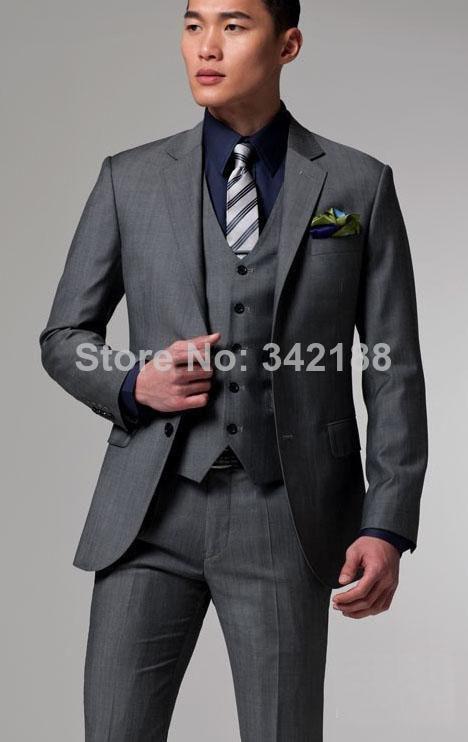 Aliexpress.com : Buy Custom Made Two Buttons Slim fit dark grey ...