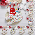 Baby Boys Girls Cartoon Pajamas Set Nightwear Captain Giraffe Rabbit Print Pyjamas Long Sleeve T shirt + Pants Kids Sleepwear 21